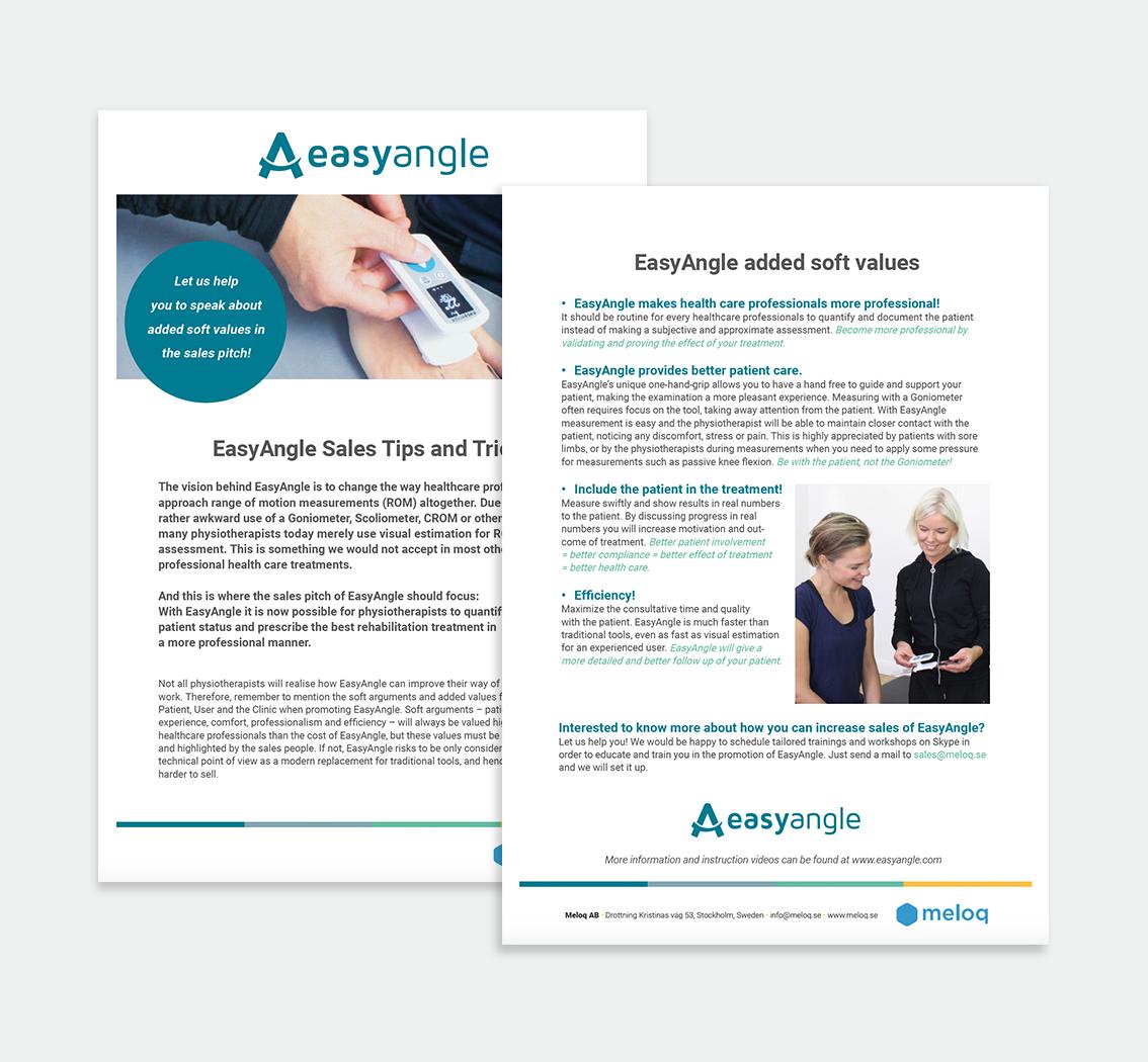 EasyAngle • design av information, instruktioner och produktblad