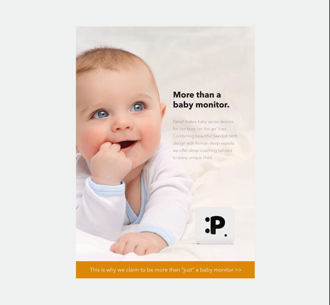 Parvel babymonitor • design av folder
