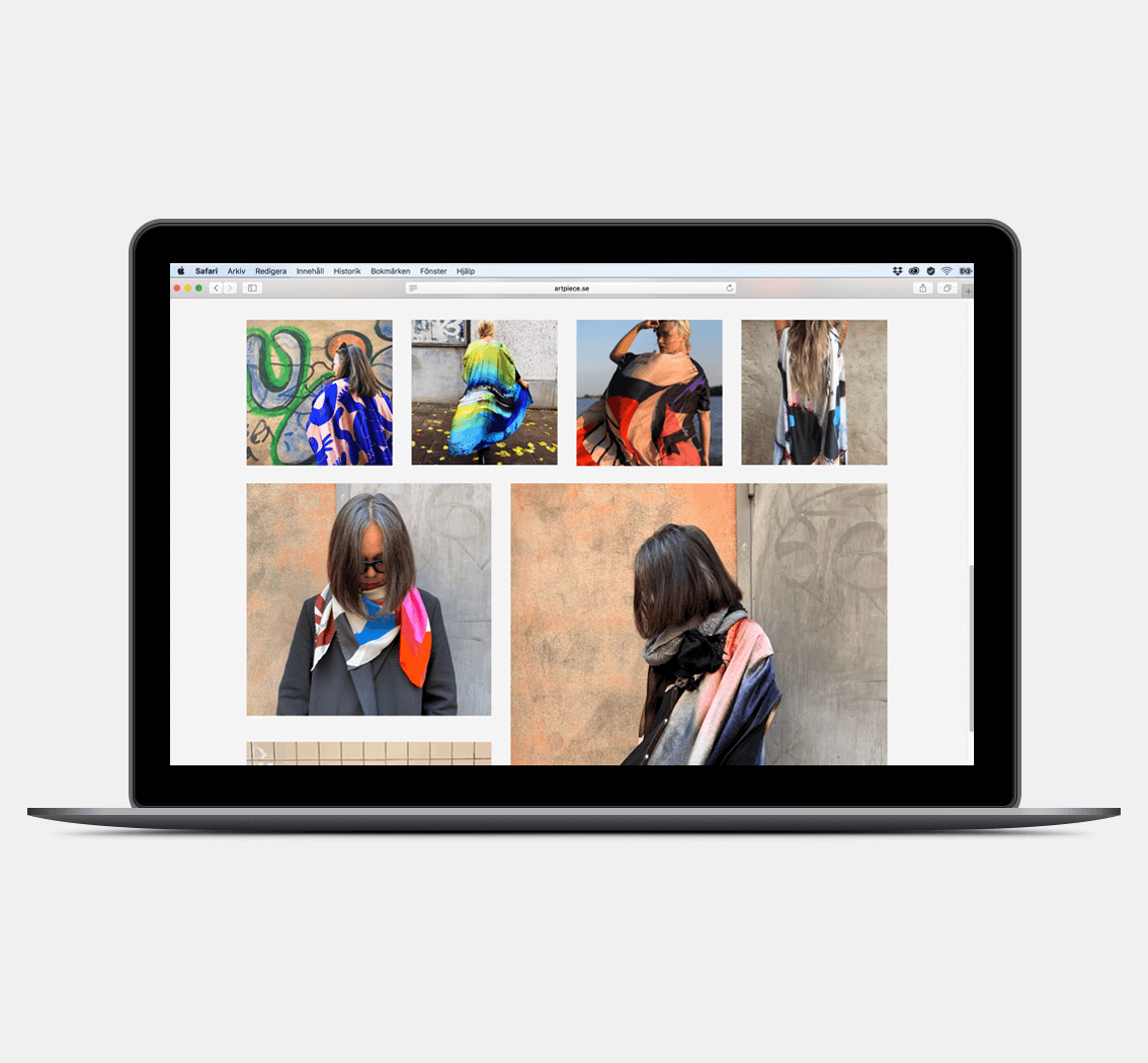 Artpiece • koncept och design av webbsida